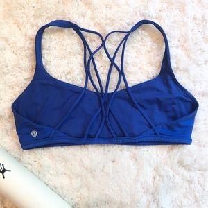Lululemon Blue Free to Be Wild Sports Bra -Size 12
